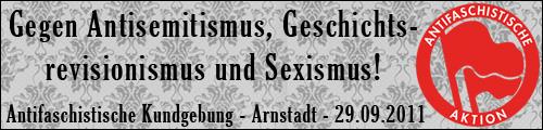 banner demo arnstadt